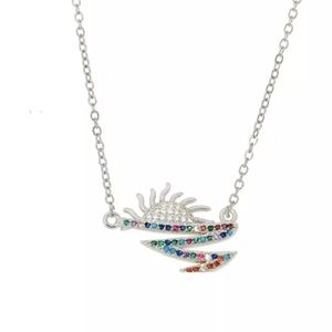 New sun crystal necklace